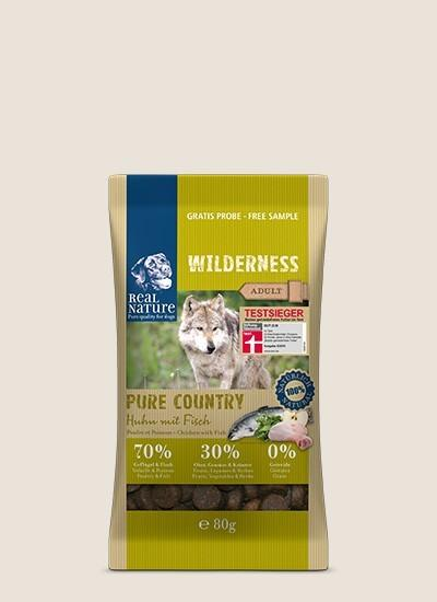rnw dog adult pure country huhn fisch 80g